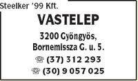 Steelker'99 Kft – kedvezmény – Gyöngyös