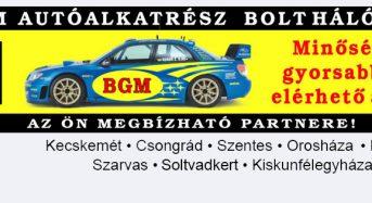 BGM Motorsport Kft. – Autóalkatrész – Kiskunfélegyháza