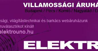 Elektro Uno Villamossági Áruház – Pécs – kedvezmény