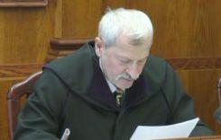 Bíró leleplező elszólása az ítélethirdetésből